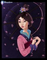 Mulan - Coloring Page by Laurine-Tellier