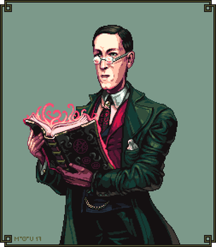 H P Lovecraft by Cyangmou