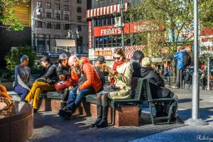 on a bench in Manhattan by Rikitza