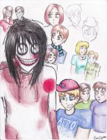Jeff the Killer- All Character Collage (Unfinished by EveIrken