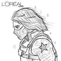 Bucky Barnes Free Coloring Pages