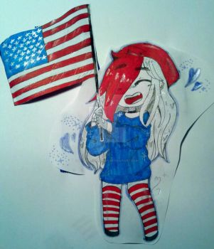 4th of July Doodle by artistroxychan
