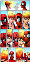 spiderman and jean grey by flashtheshapeshafter