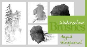 WaterColour brushes by AquaDstock