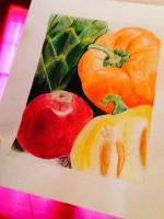 vibrant colors in still life by Amberisdacutie83