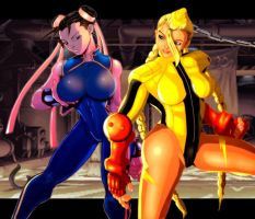 Babes of Street Fighter by holyghost13th