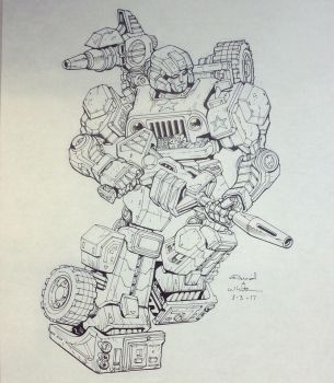 Hound for March of Robots 2017 by Mecha-Zone