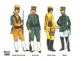 Imperial Siamese Military Uniform - 1905 by LongXiaolong