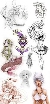 Sketchdump from 2013 and early 2014 by AnnaNander