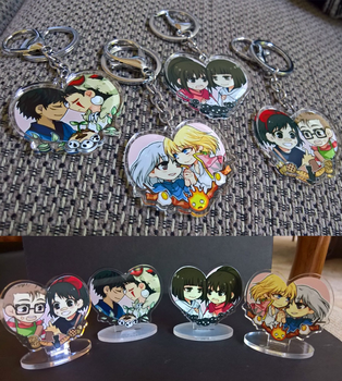 Studio Ghibli Couple Keychains and Stands by akiicchi