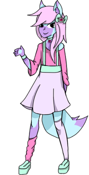 Pastel fox by DeathClaw-ologist