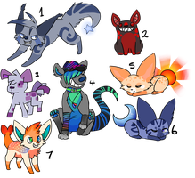 Canine adopts -All closed- by FittaKuk