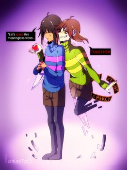 Frisk and Chara by Llamasrock123456