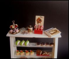 Victorian Candy display by MiniatureChef