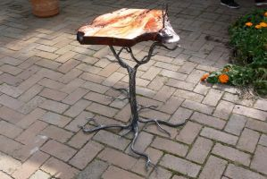 Tree side table by Sebskidoodles