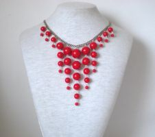 Lady in Red Necklace by RetroRevivalBoutique