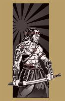 Japanesse warrior by NathanRosario
