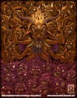 Baphomet and lost souls by joeytheberzerker