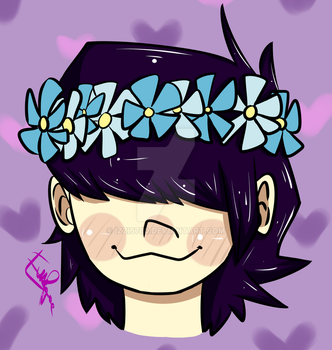 Noodle Flowercrown by izzi6780