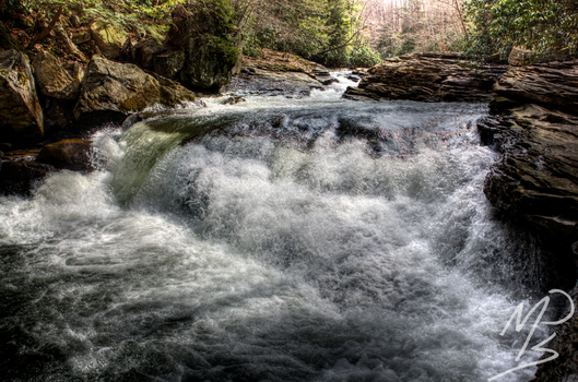 Rushing Water by MPhilipPhotography