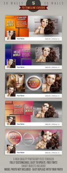 5 Facebook Timeline Cover Templates - 3D Walls by hugoo13