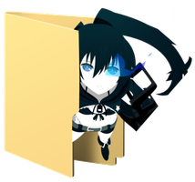 Black Rock Shooter Folder Icon [7] by Hinatka3991
