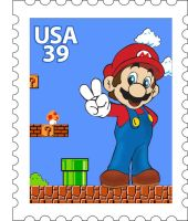 Mario Stamp by mmthorn