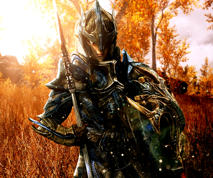 Valiant Elven Soldier by LordHayabusa357