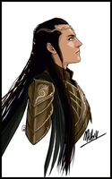 Elrond in armor by MellorianJ