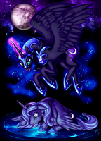52996 - Nightmare Moon artist heilos crying luna m by LEIDYLALEONA