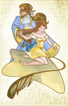 Beauty and the Beast by sketchbeetle