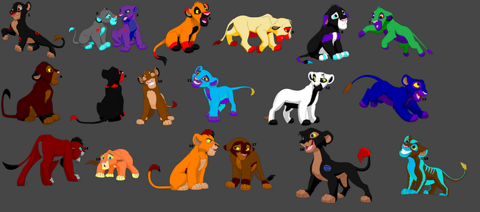 Name Your Price Lions Adopts by BlackAngel1996