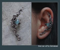Siren ear cuff by bodaszilvia