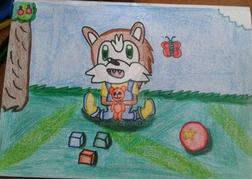 Playing outside by Tabby010