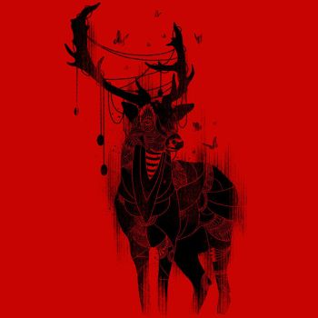 Deer in the Red Light by Design-By-Humans