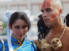 Chun Li Cosplay and Dhalsim Cosplay by MorganaCosplay