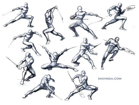 Studies for poses by mavinga