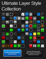 Ultime Photoshop Layer Style Collection by Friggog