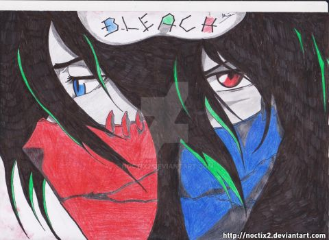 Bleach - Ichigo colorful Final Getsuga Tenshou by noctix2