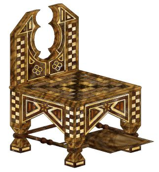 History 3 - Project 1 - Rendered Chair - Turkey by Elsaprairie