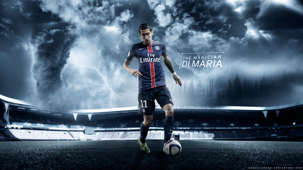 Angel Di Maria (Paris Saint-Germain) Wallpaper by Mackalbrook