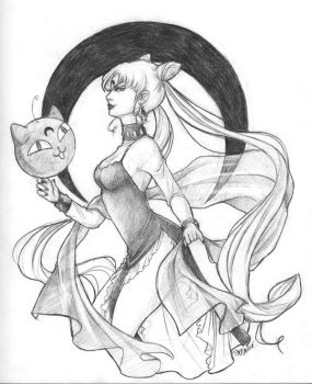 Black Lady- Pencil Drawing by shanalikeanna