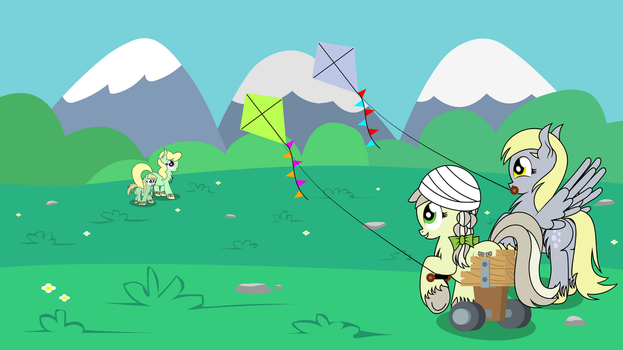 Jinx and Derpy's Kite Flying Day by DinkyUniverse