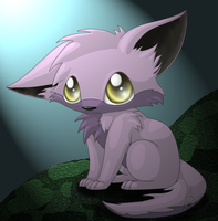 Purple wolf pup by GoldFlareon