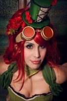 Poison Ivy - Burlesque/steampunk cosplay. by Candustark