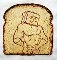 POWDERED TOAST MAN ON TOAST by KoiFishSushi