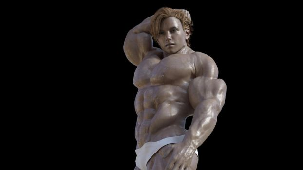 Young muscle boy by kemch122