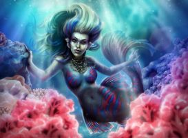 Mandarin Mermaid by minielche