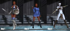 Racks View:  Khia at the Cosplay Con by NICELabs