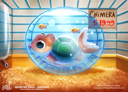 Daily Painting 1734# Monster Shop - Chimera by Cryptid-Creations